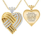 Woven Together Personalized Heart Pendant 10134 0016 a main