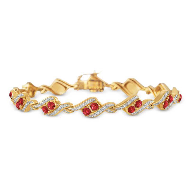 Birthstone  Diamond Bracelet 6321 001 7 7