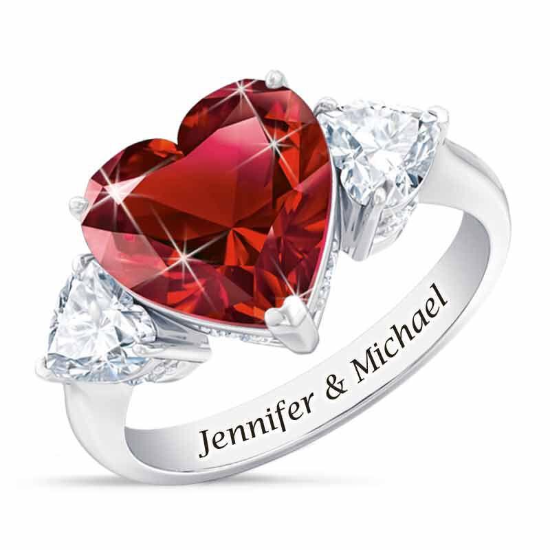 Birthstone Triple Heart Ring 1516 002 1 1