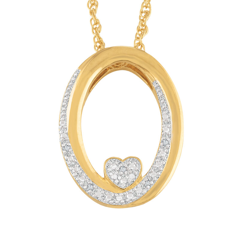 I Will Always Love You Daughter Diamond Pendant 10011 0014 b front