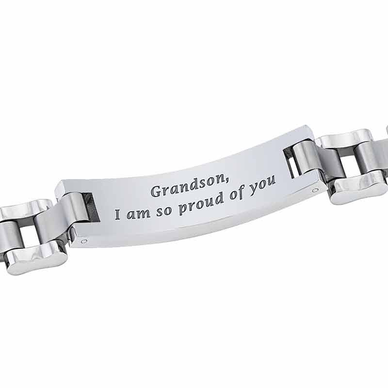 For My Grandson Personalized Bracelet 2981 009 0 2