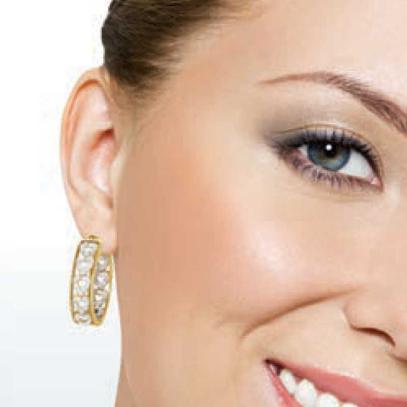Diamond Hearts Hoop Earrings 1800 001 8 4