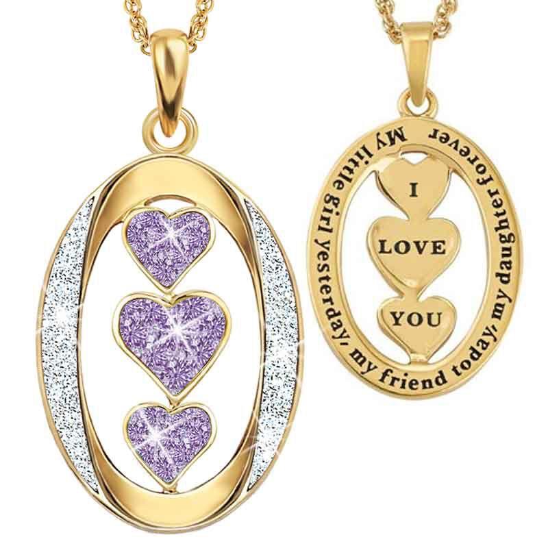 My Daughter I Love You Diamond Pendant 1136 001 3 6