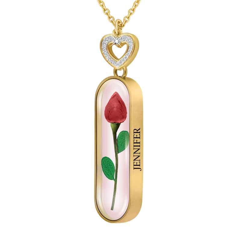 Rose Bud Personalized Diamond Pendant 1170 009 3 1