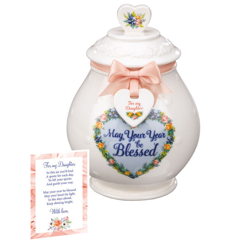 A Year of Blessings Porcelain Jar with Card 6538 001 6 3