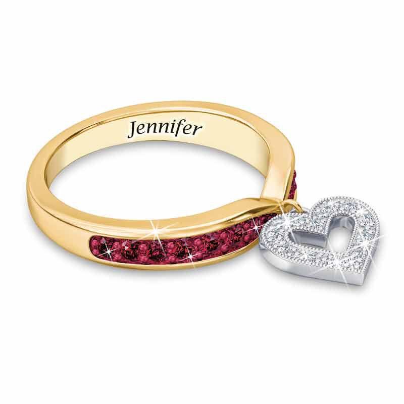 Birthstone  Diamond Charm Ring 2145 002 8 1