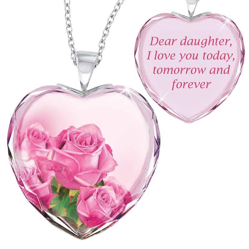 Mother  Daughter Crystal Pendant Set 1644 001 8 3