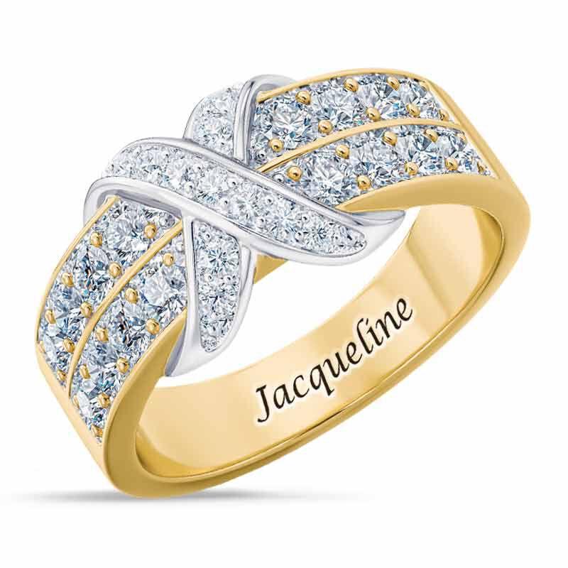 Birthstone Beauty Diamond Kiss Ring 6503 001 7 4