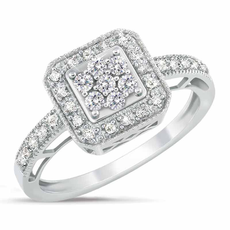 Square Flair Diamond Commitment Ring 9821 001 6 1