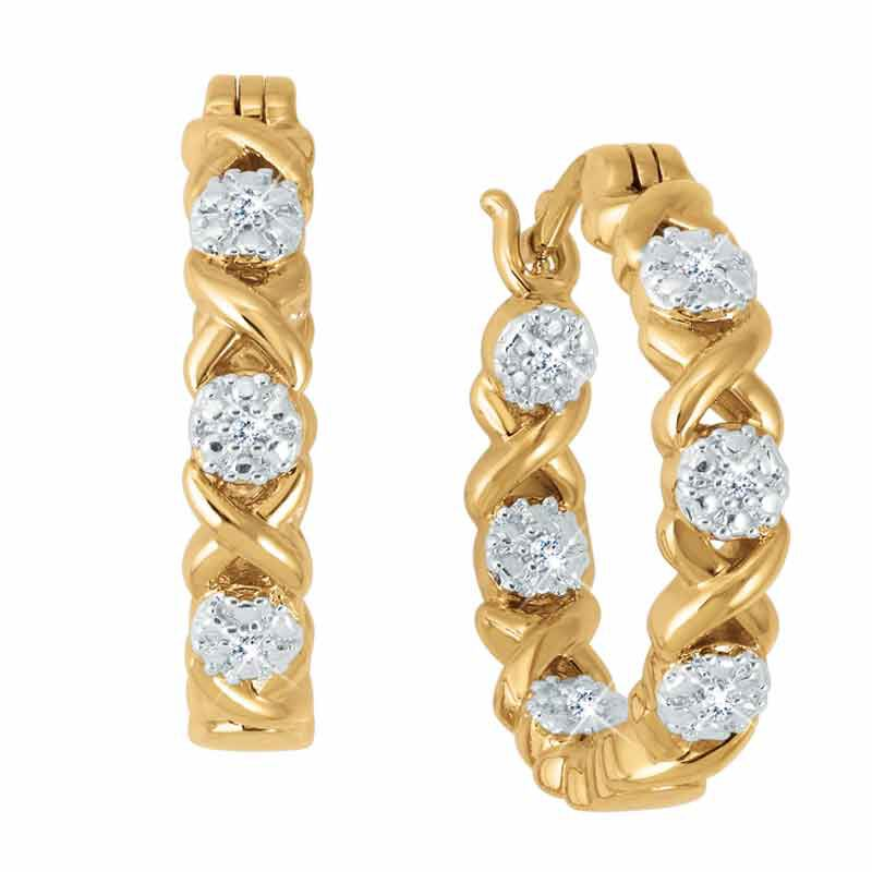 Hugs  Kisses Diamond Hoop Earrings 2638 001 4 1
