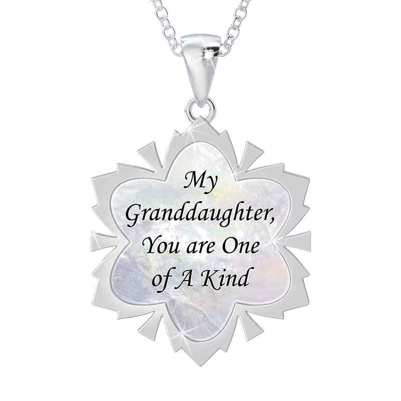 Granddaughter Diamond Snowflake Pendant 1069 001 4 2