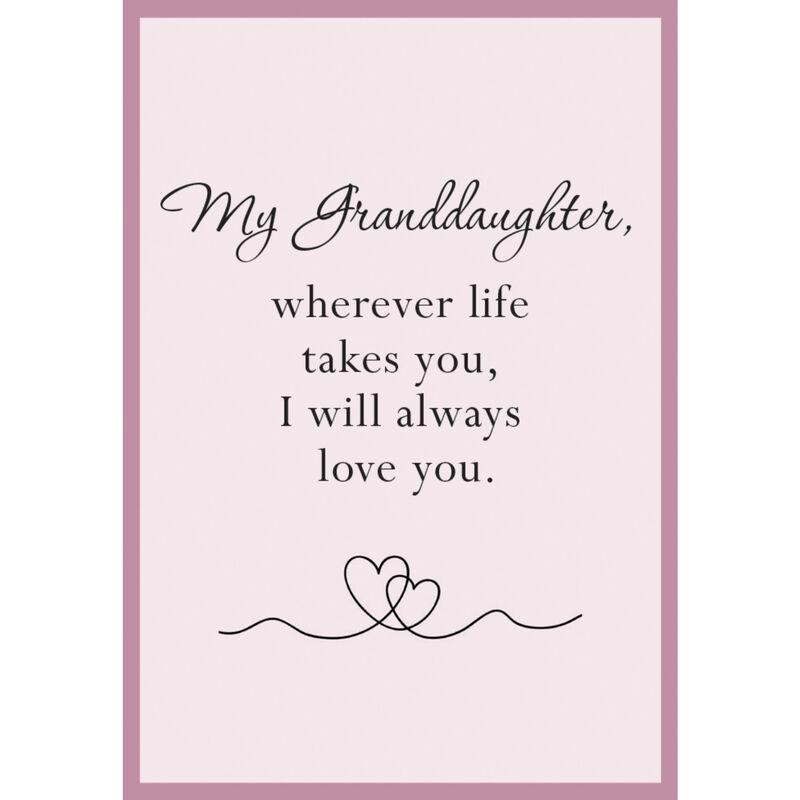 Granddaughter Set CZSwirl Nk Er 10497 0017 d poem