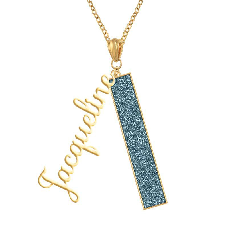 Personalized Birthstone Bar Necklace 6800 001 7 12