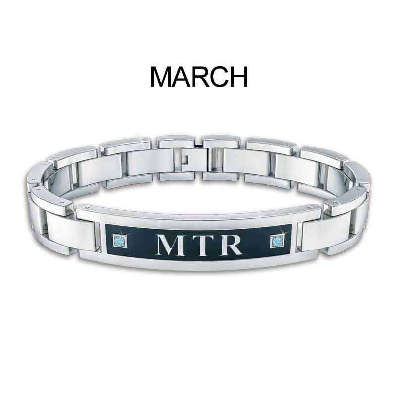 Mens Birthstone ID Bracelet 5824 001 1 4