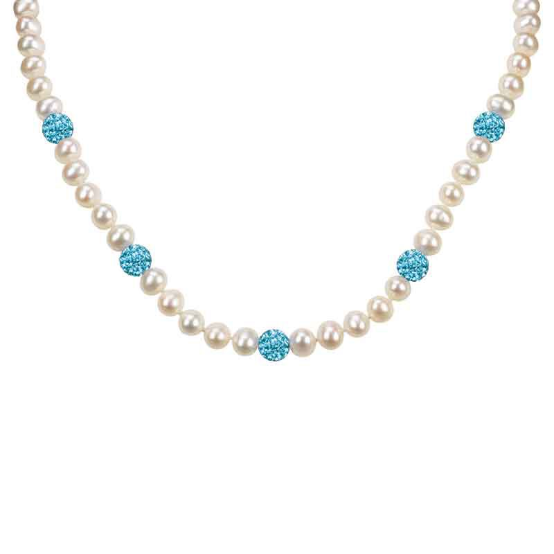 Bedazzled with Birthstones Pearl Necklace 5106 001 0 3