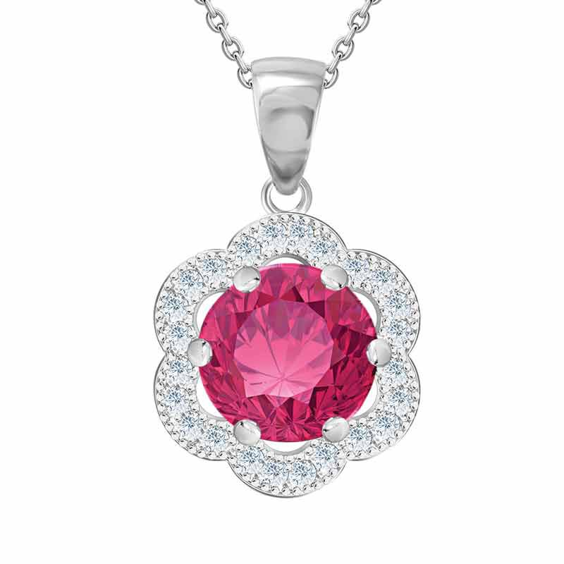 Daughter Pink Topaz Necklace  Earrings Set 4984 001 0 2