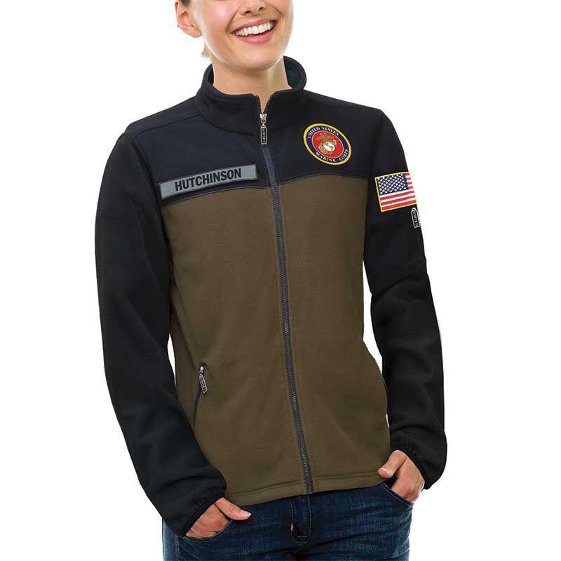 The US Marines Womens Fleece Jacket 1662 013 0 2