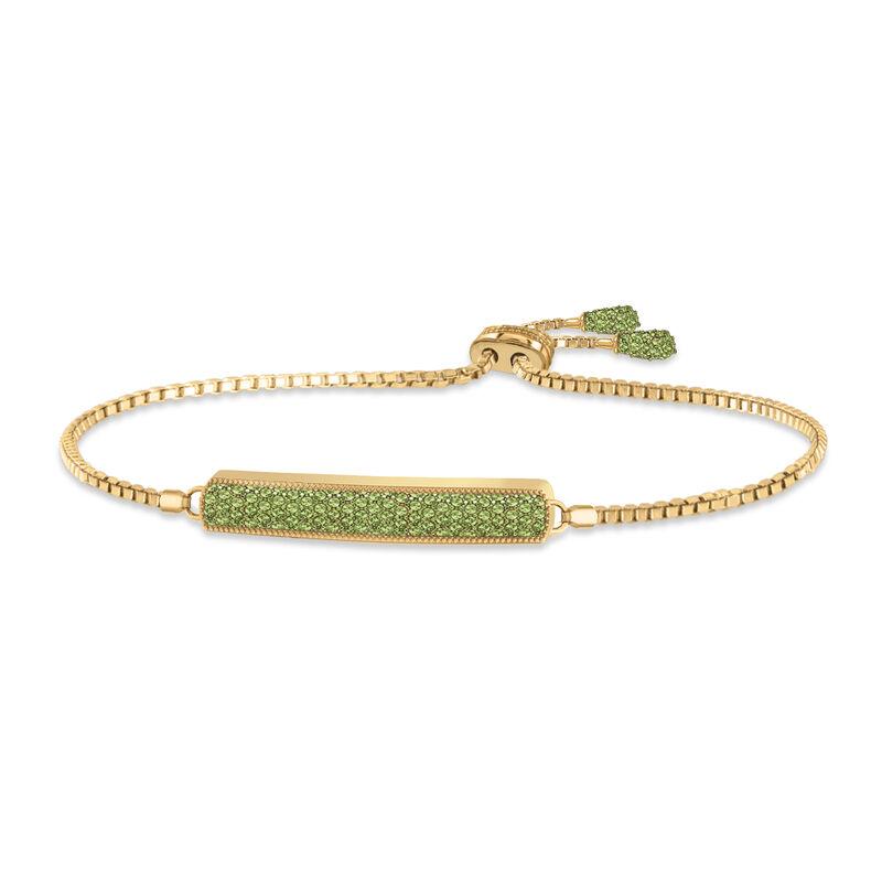 Birthstone Bolo Bracelet 6501 0027 h august