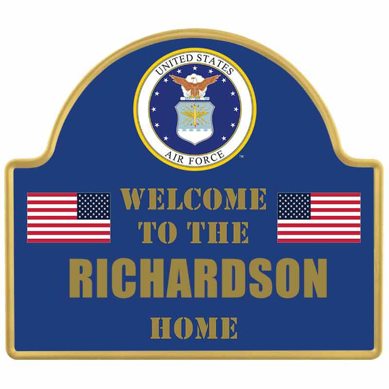 The Personalized US Military Welcome Sign 6099 001 7 1