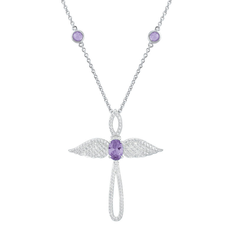 Touched by an Angel Birthstone Necklace 6842 0017 f june