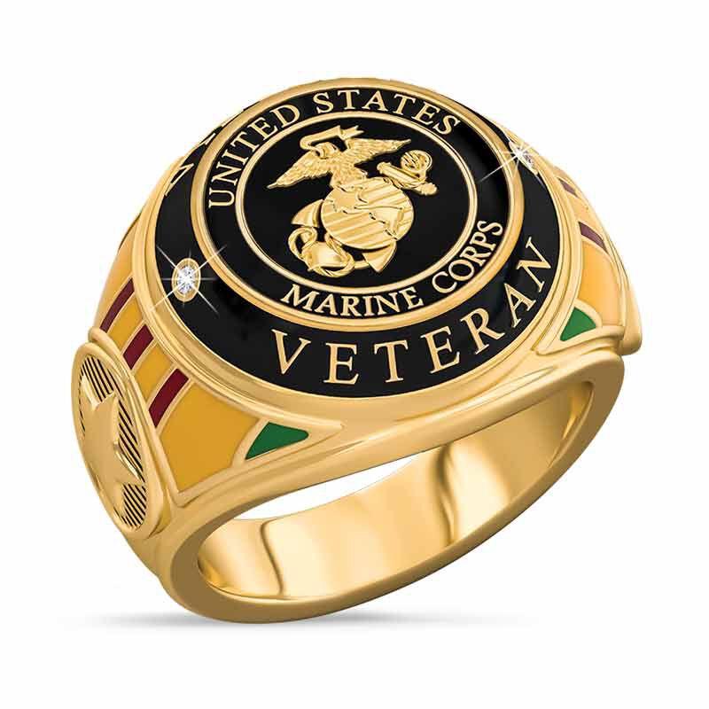 US Marine Corps Veteran Ring 1861 003 0 1