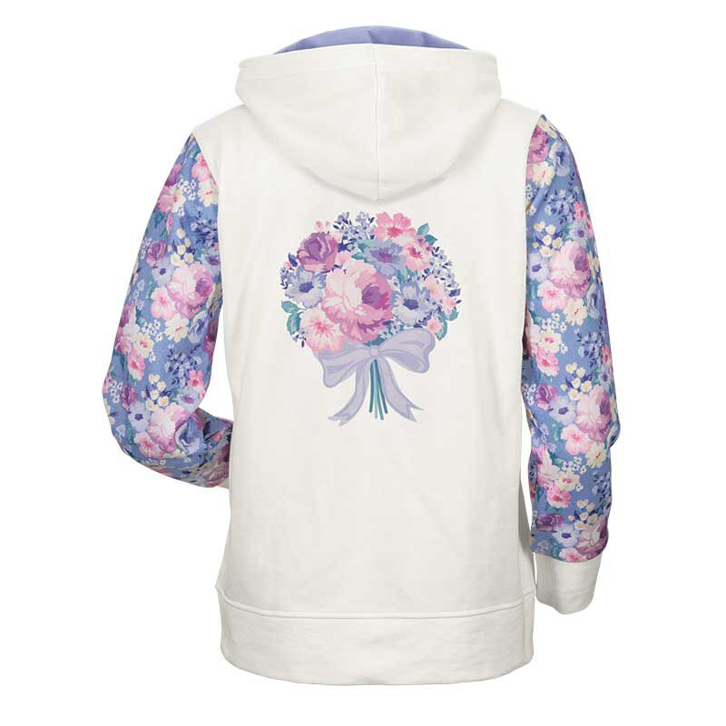 Personalized Fabulous Florals Zip Up Hoodie 6689 001 3 2