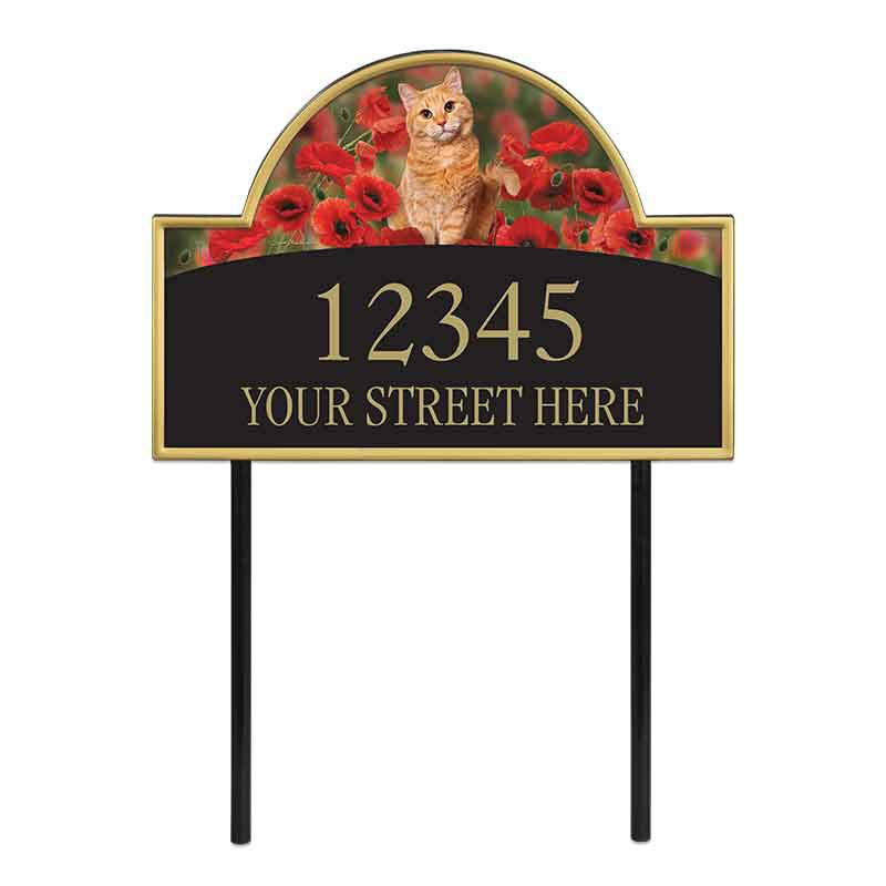 The Captivating Kitties Address Plaque by Simon Mendez 1088 006 0 1