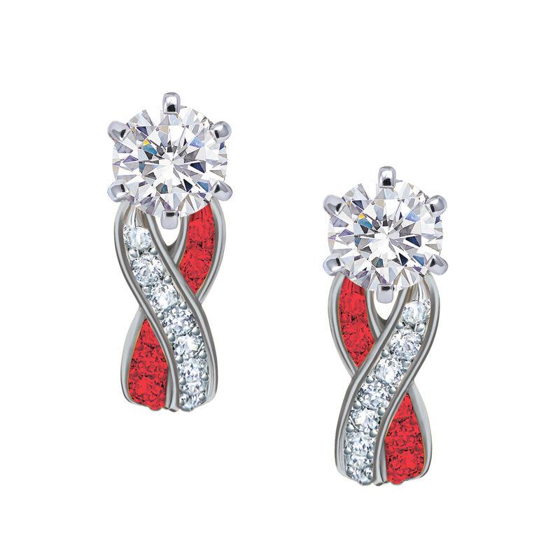 Birthstone Swirl Earrings 10115 0027 g july