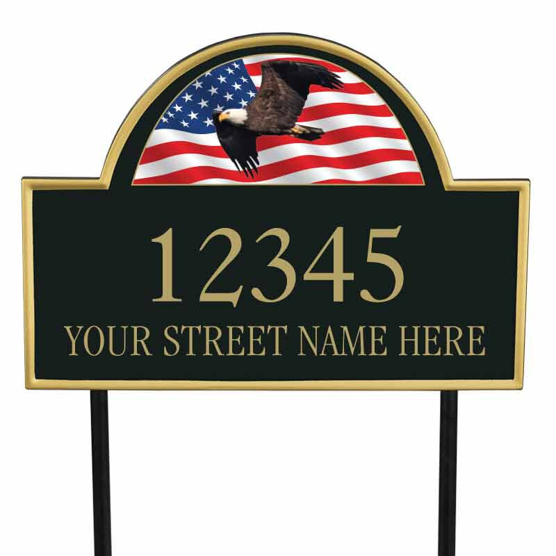 Land of the Brave Address Plaque 1092 002 3 1