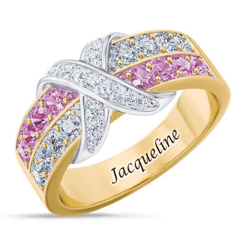 Birthstone Beauty Diamond Kiss Ring 6503 001 7 6
