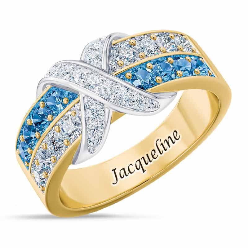 Birthstone Beauty Diamond Kiss Ring 6503 001 7 12