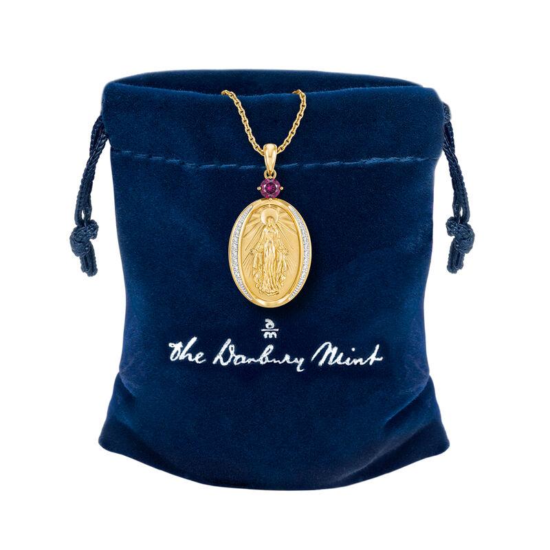 Virgin Mary Diamond Pendant 10202 0013 g gift pouch