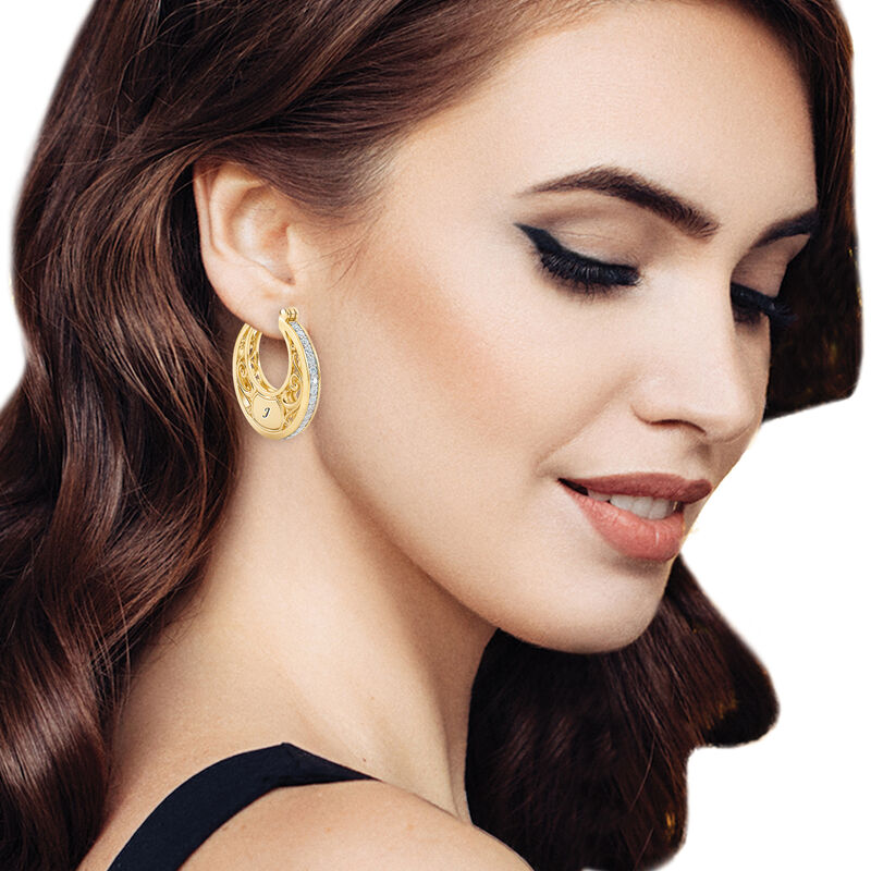 The Personalized Golden Hoops 6110 0020 m model
