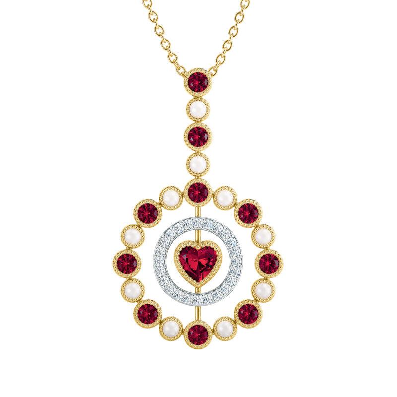 Love Embrace Birthstone Diamond Necklace 6928 0014 g july