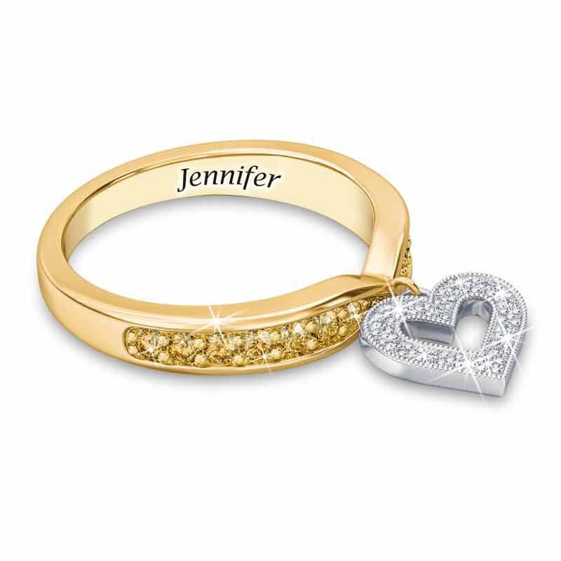Birthstone  Diamond Charm Ring 2145 002 8 11