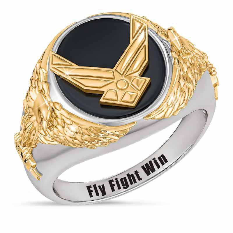 Personalized Air Force Eagle Ring 1835 002 5 1