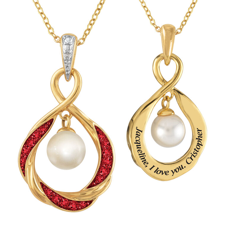 The Pearl Birthstone Pendant 6901 0015 a main