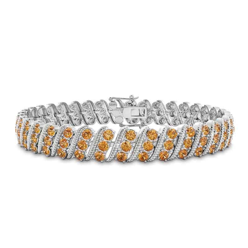 Bold  Brilliant Birthstone Bracelet 6003 001 2 11