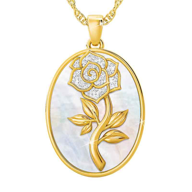 My One  Only Diamond Rose Pendant 1094 001 3 1