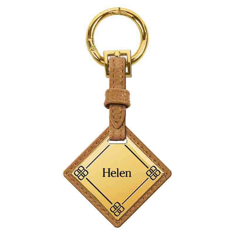 Personalized Initial Brown Handbag 1040 001 8 3