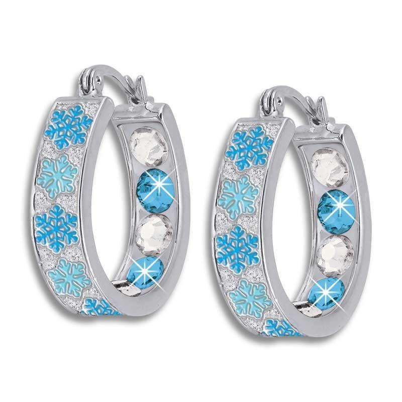 Crystal Celebrations Hoop Earrings 4608 002 4 6