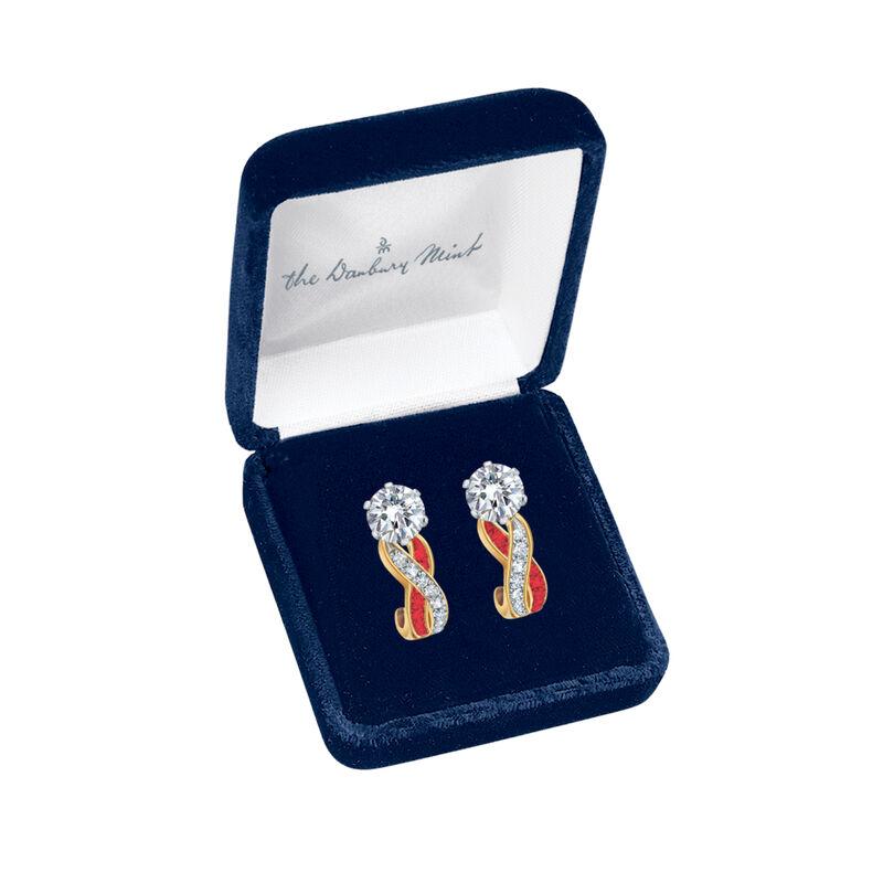 Birthstone Swirl Earrings 6243 0038 m gift box