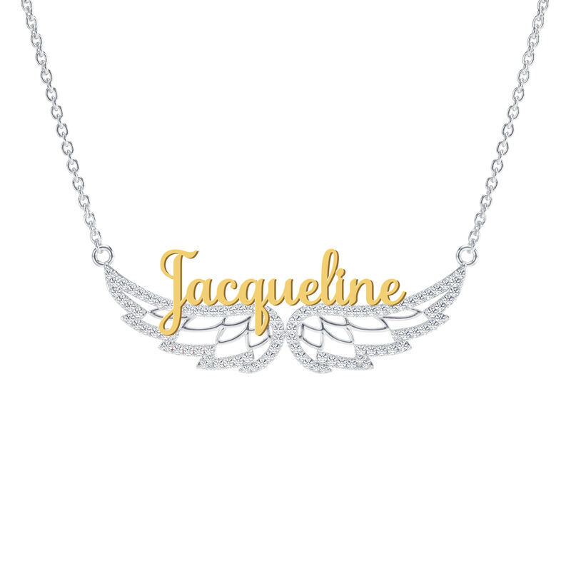 Personalized On Angel Wings Necklace 6820 001 3 1