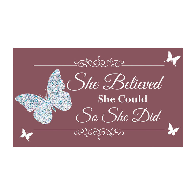 She Believed She Could So She Did Mirror Music Box 6544 001 8 4