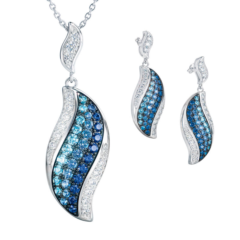 Blue Wave Pendant and Earring Set 6580 0013 a mainrev