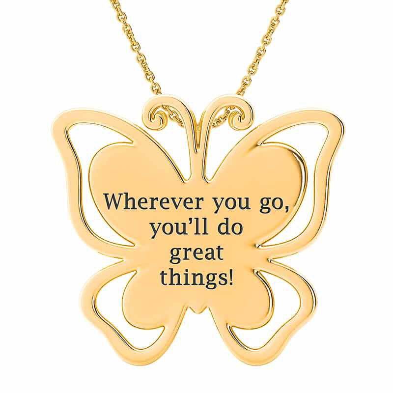My Granddaughter Youll Do Great Things Swarovski Crystal Pendant 6249 001 6 5