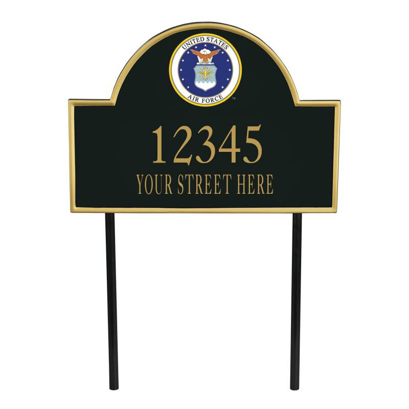 US Air Force Personalized Address Plaque 1664 001 3 1