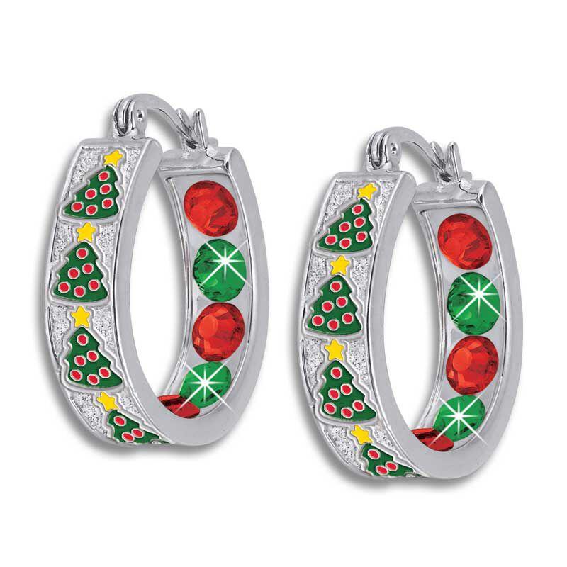 Crystal Celebrations Hoop Earrings 4608 002 4 4