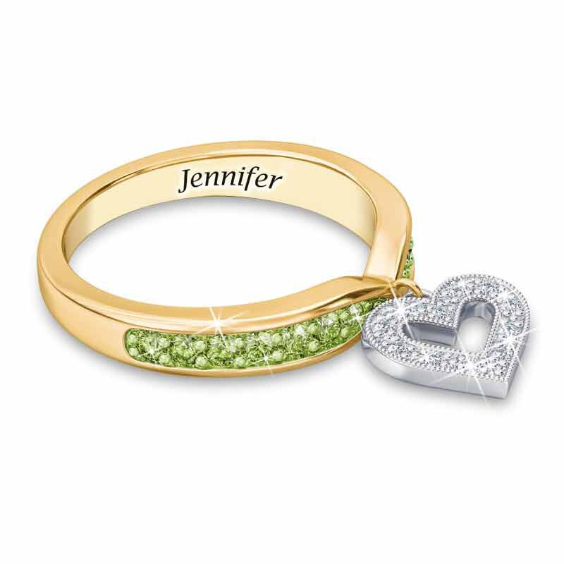 Birthstone  Diamond Charm Ring 2145 002 8 8