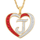 Personalized Diamond Initial Heart Pendant with FREE Poem Card 2300 0060 j initial